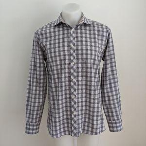 TED BAKER Endurance Plaid Dress Shirt, 16